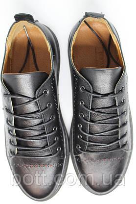 Кеды черные кожаные, фото 3