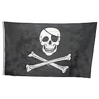 """Пиратский флаг """"Весёлый Роджер"""" -19 х33см"""
