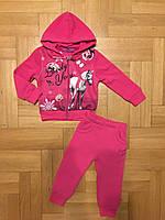 Трикотажный костюм-двойка с начесом для девочек оптом, Active Sport, 6-36 мес.,арт.SJ-9107, фото 3
