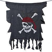 """Вымпел пиратский  """"Весёлый Роджер"""" - 47х40 см"""