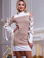 Женское платье с имитацией двойки (2475-2477-2478-2479 svt)