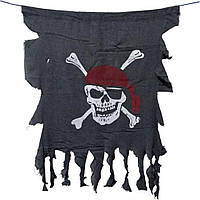 """Вымпел пиратский  """"Весёлый Роджер"""" - 60х40 см, большой"""