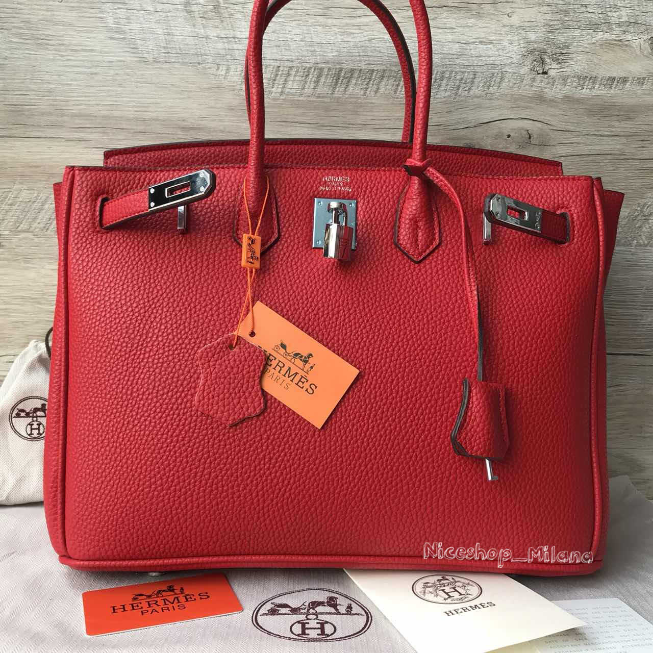 7164a3bd290a Люкс-копия Эрмес Биркин красная, кожа, 35 см, стандарт: продажа ...