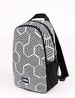 Молодежный городской рюкзак UP B11 HEXA 13л с принтом, для ноутбука, студента, в школу., фото 1