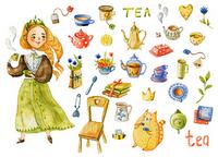 """Стікери """"Принцеса чаю"""""""