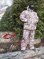 """Зимний камуфляжный костюм для рыбалки и охоты VERUS """"Зеленая хвоя"""" утепленный на флисе"""