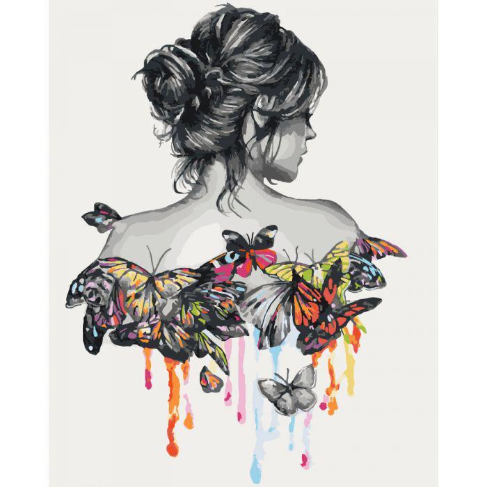 "Картина по номерам 50х40 ""Нежность бабочки"""