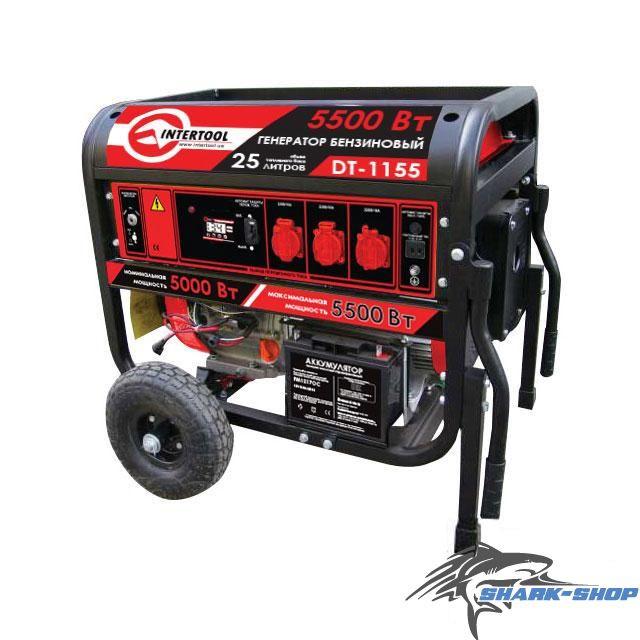 Генератор бензиновый макс. мощн. 6 кВт., ном. 5.5 кВт., 13 л.с.
