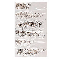 Украшения для дизайна ногтей разные формы, серебро DK-M-01