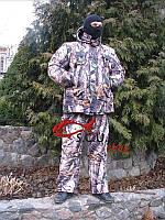 """Зимний камуфляжный костюм для рыбалки и охоты VERUS """"Лес 3D желтый"""" утепленный на флисе"""