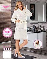 Молочный халат с капюшоном Bellezza бамбуковый № 2005, фото 1