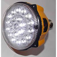 Светодиодная лампа на аккумуляторе sl-888, + ручной фонарик, цоколь е27, пульт ду, 3 режима, 22 led-диода