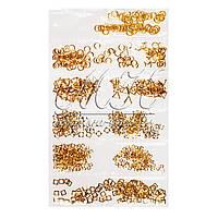 Украшения для дизайна ногтей разные формы, золото DK-M-03