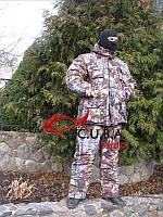 """Зимний камуфляжный костюм для рыбалки и охоты VERUS """"Осеняя хвоя"""" утепленный на флисе"""