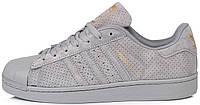 Женские кроссовки Adidas Superstar Grey Адидас Суперстар серые