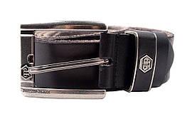 Ремень мужской Philipp Plein джинсовый, цвет черный, натуральная кожа (длина 125 см, ширина 3,5 см)