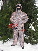 """Зимний камуфляжный костюм для рыбалки и охоты VERUS """"Золотая Нива"""" утепленный на флисе, фото 1"""