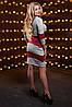 Женское двухцветное облегающее платье (2515-2513-2514 svt), фото 4