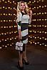 Женское двухцветное облегающее платье (2515-2513-2514 svt), фото 2