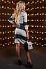 Женское двухцветное облегающее платье (2515-2513-2514 svt), фото 5