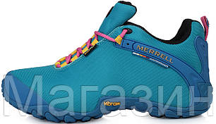Женские кроссовки Merrell GoreTex Blue Меррел синие, фото 2