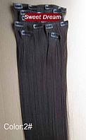 Набор накладных прядей на заколках-клипсах из 7-ми штук, наращивание волос, искусственные волосы, цвет №2