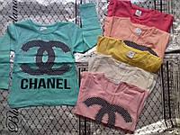"""Кофта детскаядля девочки """"Chanel"""" 1-8 лет, мятная"""