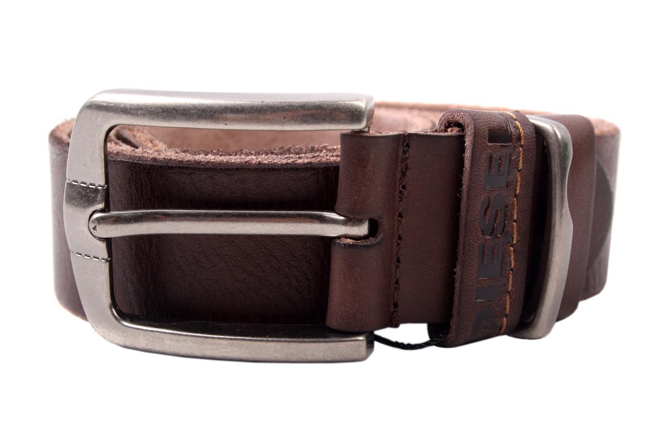 Ремень мужской DIESEL джинсовый, цвет коричневый, натуральная кожа (длина 110 см, ширина 3,5 см)