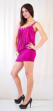Клубное платье-мини с открытой спиной, украшенное камнями., фото 2