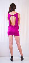 Клубное платье-мини с открытой спиной, украшенное камнями., фото 3
