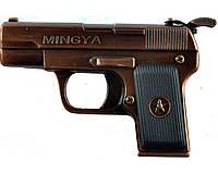 """Подарочная зажигалка """"Пистолет"""" газовая, пьезоэлектрическая. Отделка: металл/пластик.  Низкая цена."""