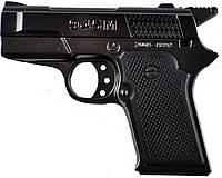 """Зажигалка """"Пистолет"""" сувенирная. Газовая. Карманная. Корпус: металл/пластик. Цвет: черный."""
