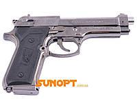 """Зажигалка сувенирная """"Пистолет М-9"""" (Турбо пламя). Газовая, карманная. Материал: металл/пластик, фото 1"""