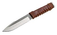 Нож GRAND WAY нескладной с клинком из высококачественной стали для охоты и рыбалки.Кожаная рукоять., фото 1
