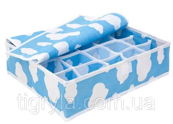 Органайзеры для белья c крышкой, Облака (набор 3шт) , фото 2