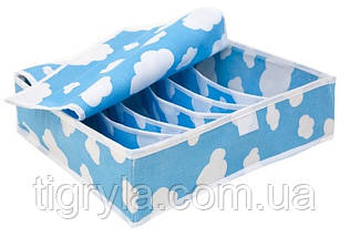 Органайзеры для белья c крышкой, Облака (набор 3шт) , фото 3