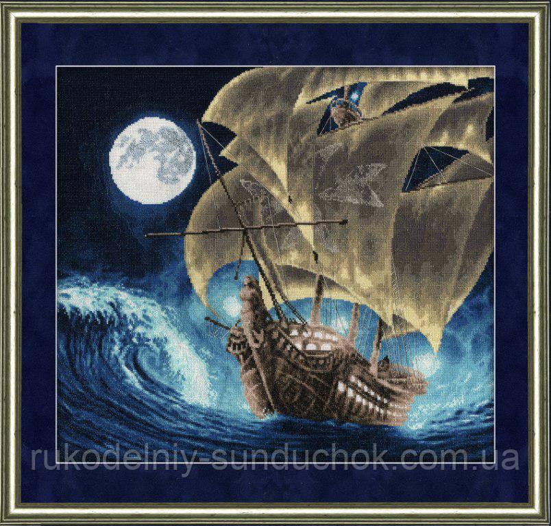 """Набор для вышивания крестом ТМ Золотое Руно """"К дальним берегам. Морские мотивы """" ММ-013"""