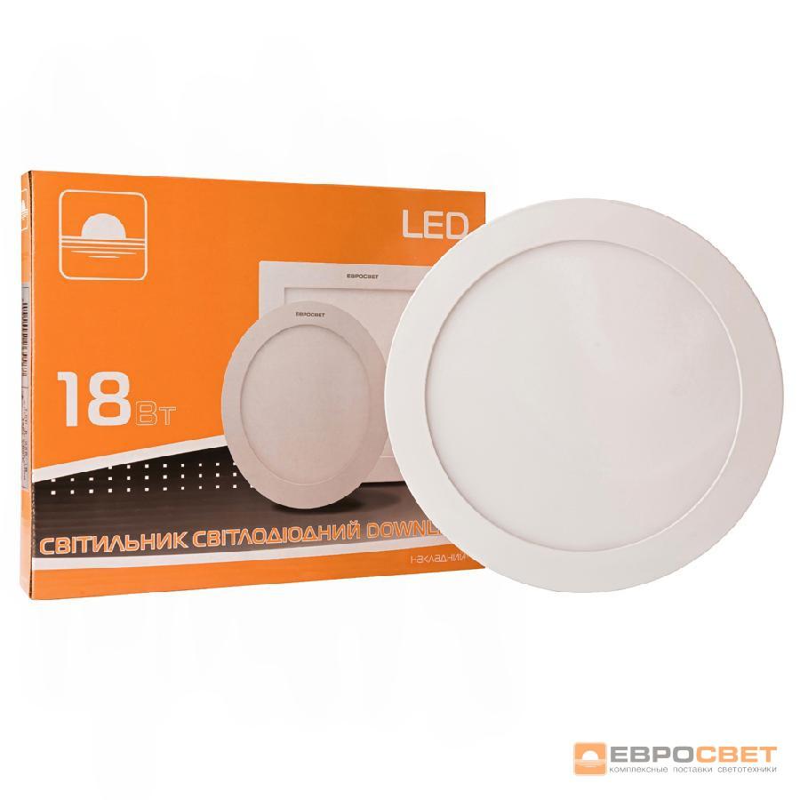Светильник точечный накладной ЕВРОСВЕТ 18Вт круг LED-SR-225-18 4200К