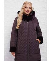 Женская куртка зимняя большие размеры в 4х цветах ML-062/2 размер 50-58
