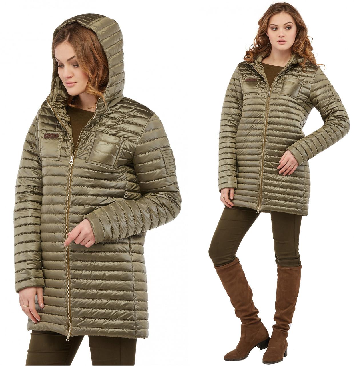 Ветровка женская осенняя куртка демисезонная, плащевка стежка
