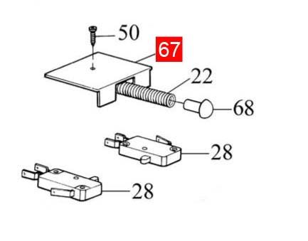 Крышка концевого микровыключателя ROBO/THOR (PPD1182.4540)