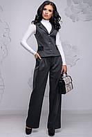 Модний діловий костюм штани і жилет 42-48 розміру сірий, фото 1