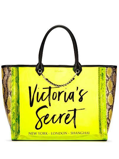 Силиконовая салатовая сумка Victoria's Secret