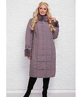 Шикарная куртка-пальто зимняя большие размеры в 6ти цветах ML-065/1 размер 52-60