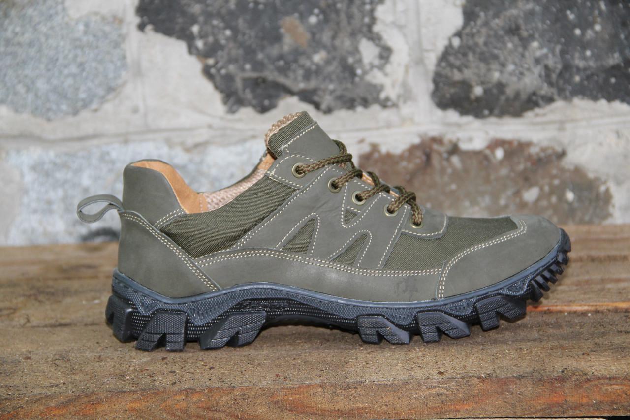 Тактические кроссовки из натуральной кожи РА - Альфа крейзи зеленый