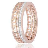 Позолоченое кольцо Ришелье 585 пробы на серебре 925 пробы