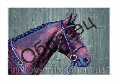 """Схема для частичной вышивки """"Каурый конь"""", фото 2"""