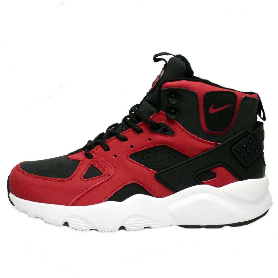 9d8a27e5 Кроссовки мужские Nike Air Huarache Winter Shoes *красные-черные) зимние  (Top replic