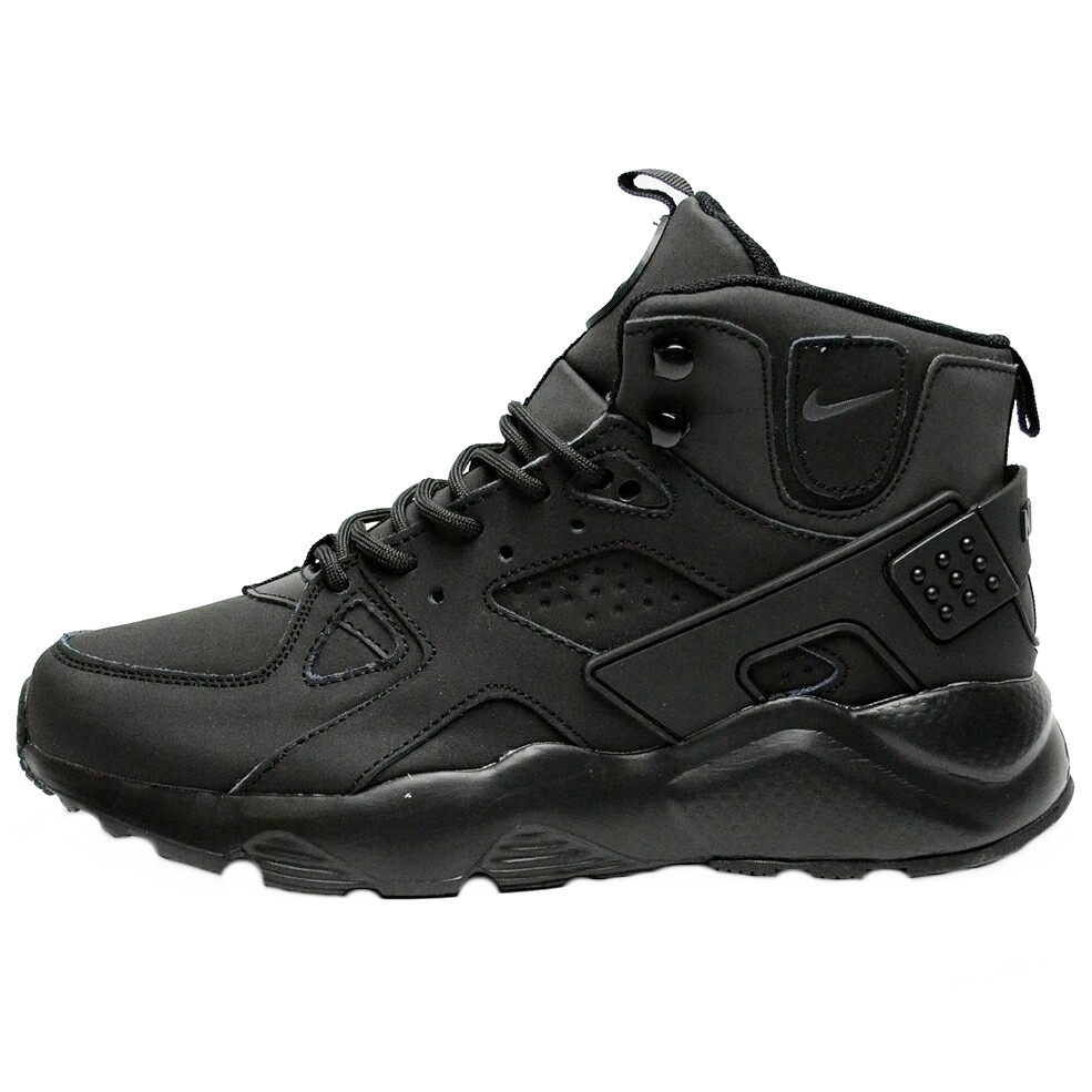 Кросівки чоловічі Nike Air Huarache (чорні) зимові (Top replic)
