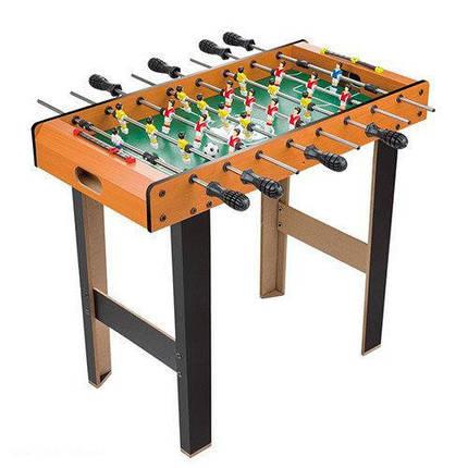 Настольный футбол 1089 деревянный на нож/штангах,поле,шкала вед.сч,мяч2шт, фото 2